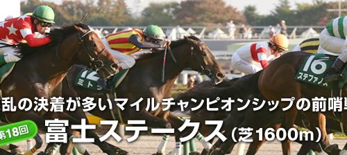 【富士S】展望 出走馬分析 上位人気馬に軸不在【2015年】